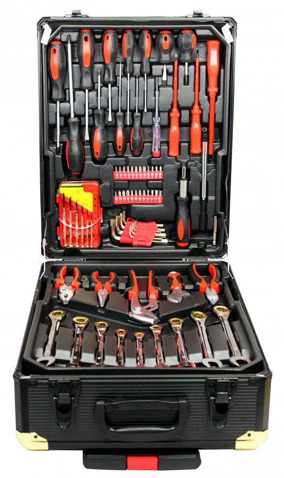 186pcs Tool set with Gold Rachen and Portable ABS Case